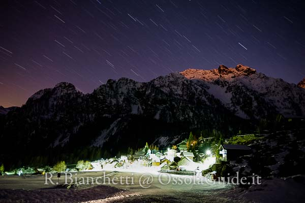 Ciaspolata notturna con luna piena e cena tipica in valle Antrona