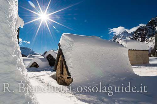 Ciaspolata alpe Devero con merenda, escursione foto naturalistica