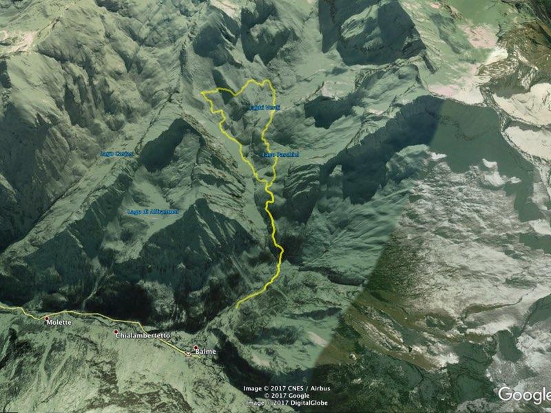 tracciato laghi verdi