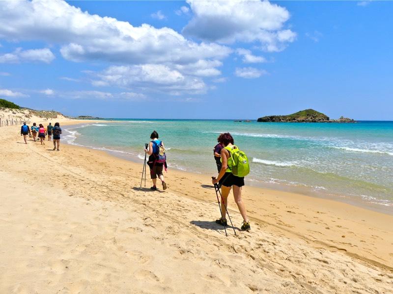 Escursione guidata in Sardegna  sulle spiagge di Chia