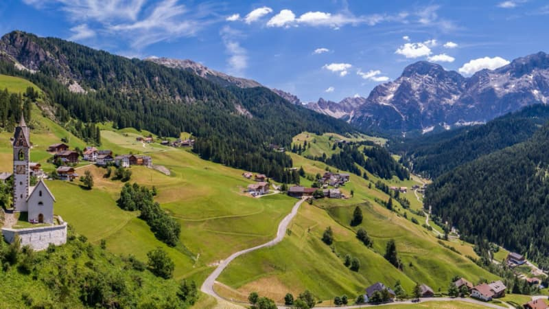 Escursione alta val Badia, Dolomiti da San Cassiano