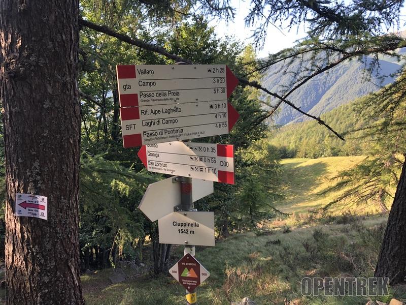 indicazioni sentiero Pontimia