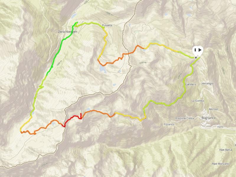mappa escursione